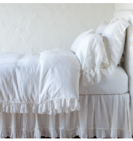 Linen Whisper Queen Duvet winter white