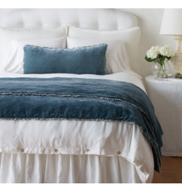 Carmen Personal Comforter with charmeuse petite ruffle Mineral