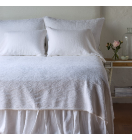 Adele Coverlet with Silk Velvet Trim