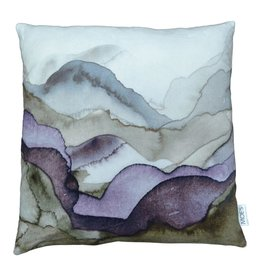 Mountains Velvet Pillow