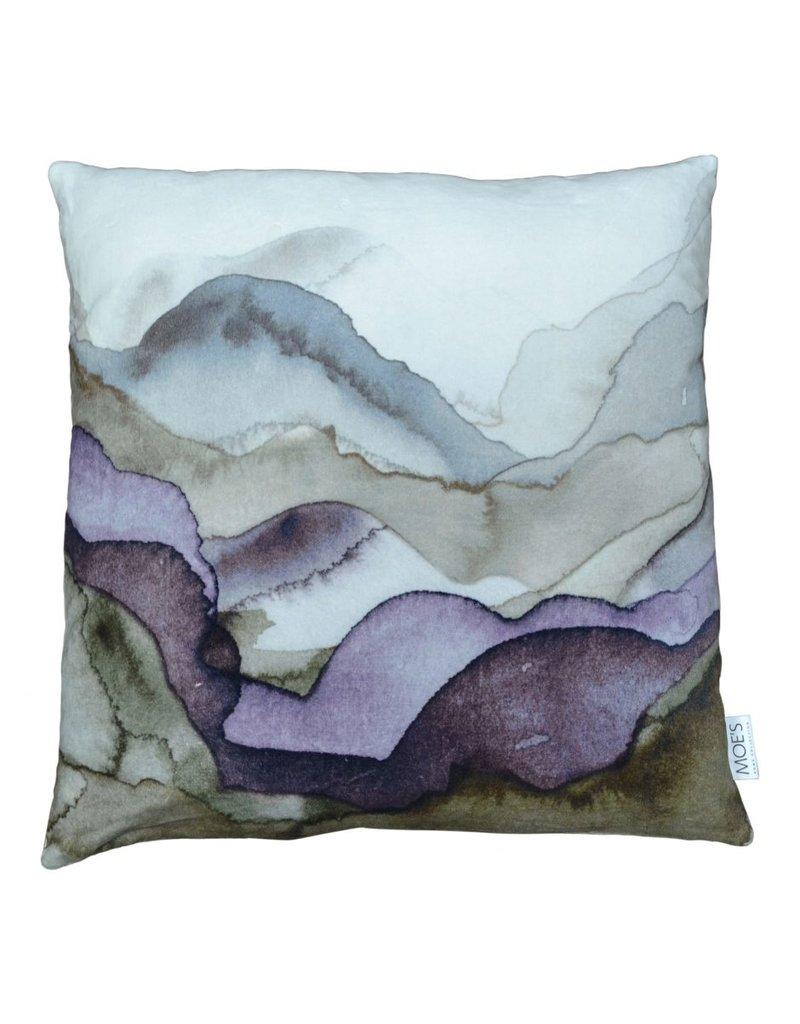 Mountains Velvet Pillow