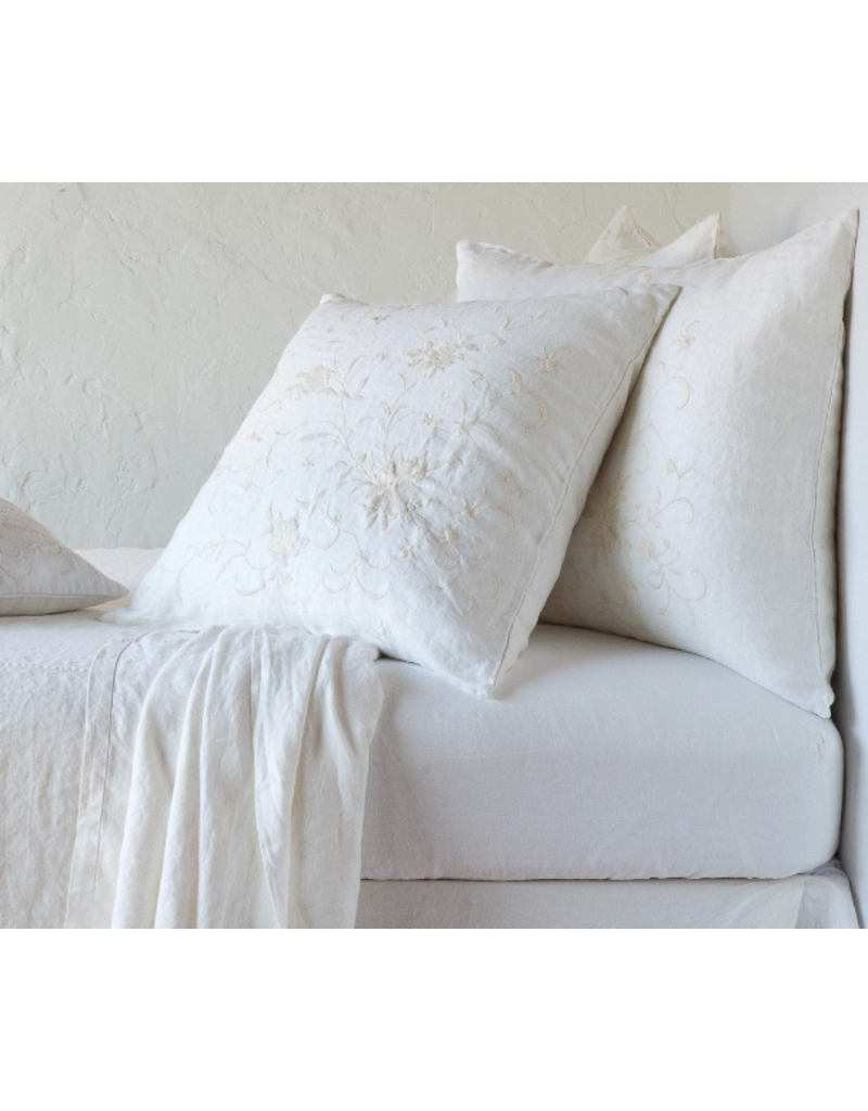 Seville Embroidered Deluxe Sham Winter White