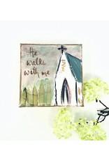 4x4 Church He Walks w/ Me