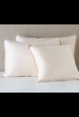 Paloma Euro Sham w/ Silk velvet flange Pearl