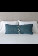 Carmen Lumbar Throw Pillow with Charmeuse Petite Ruffle