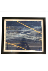 20x24 Austin James Framed Navy/Gold
