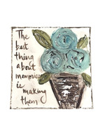 4x4 Floral Art Quote