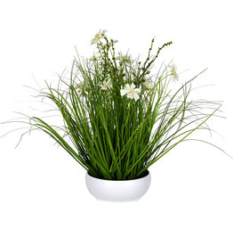 Cream Potted Cosmos Grass 16.5""