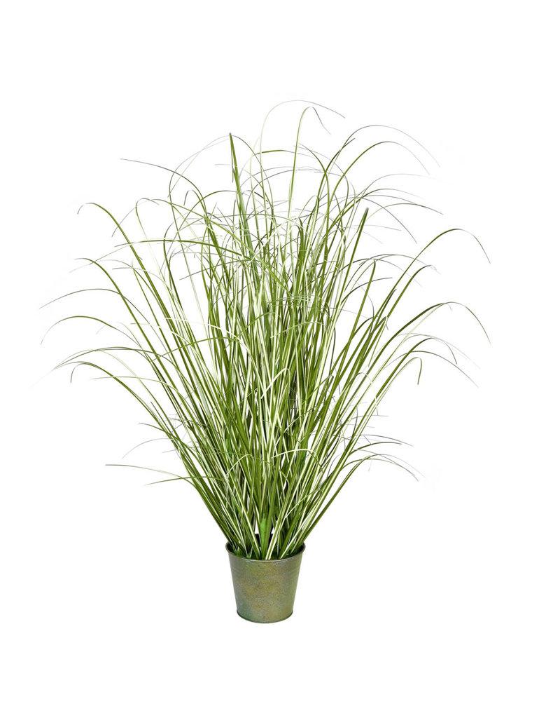 """Green Grass in Iron Pot 24"""""""