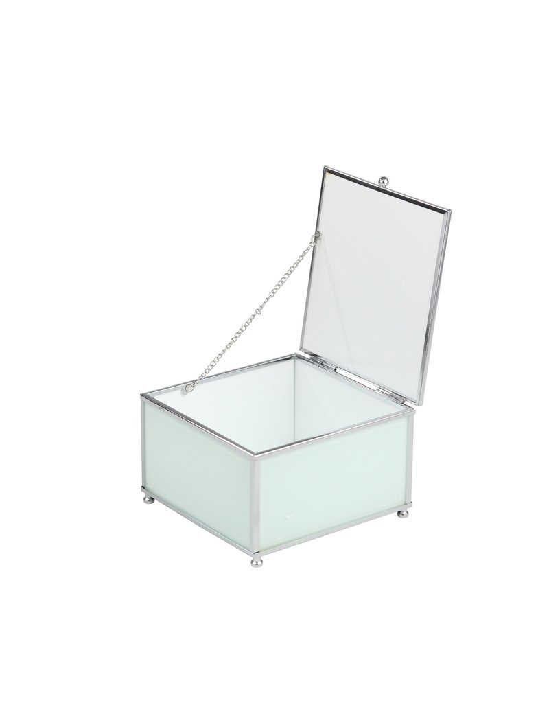 White/Silver Glass Box