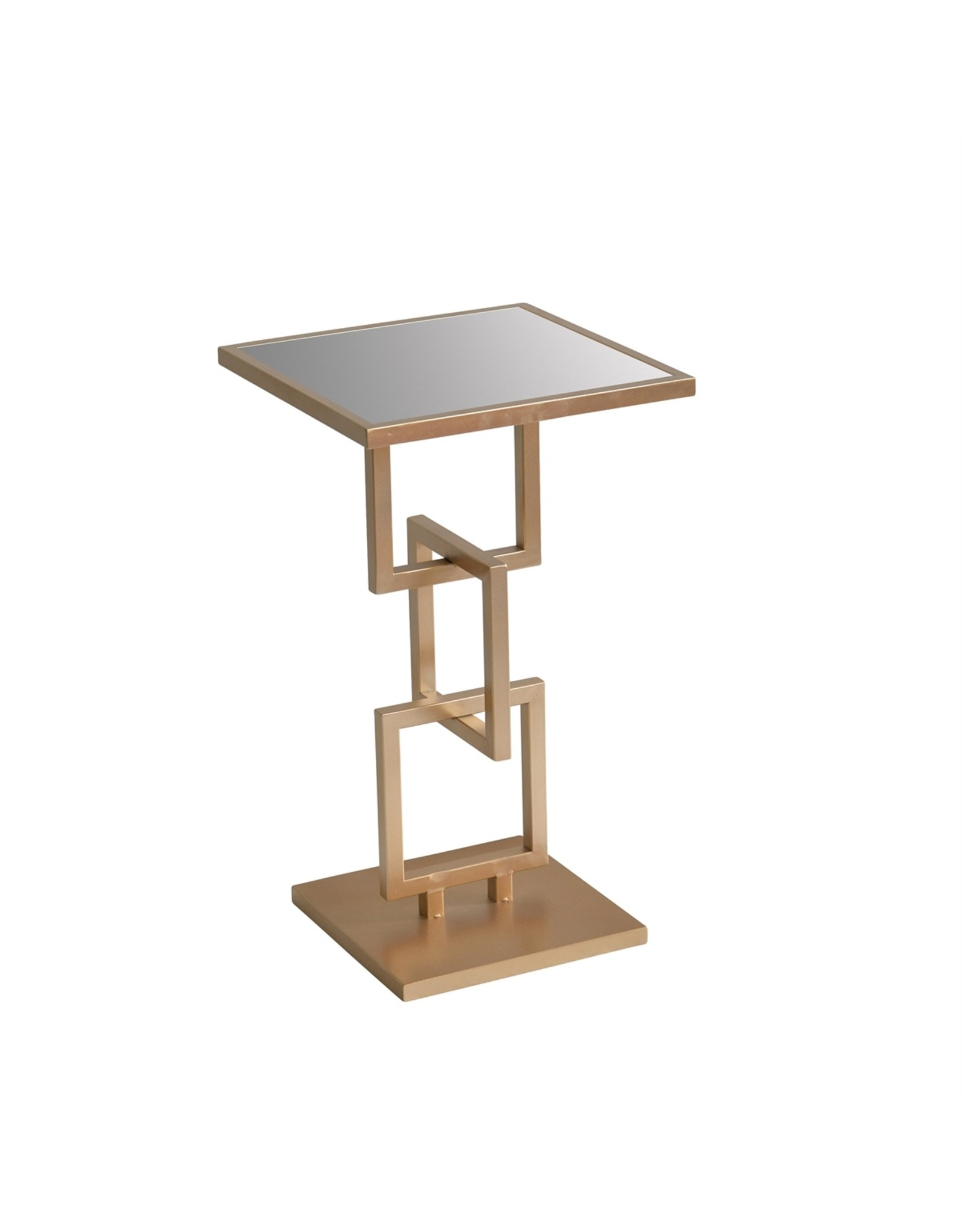 Metal Accent Table w/ Mirrored Top
