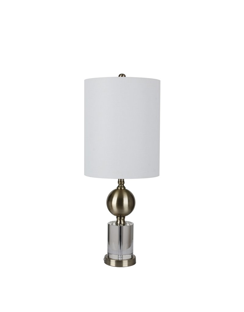 Crystal & Metal Table Lamps