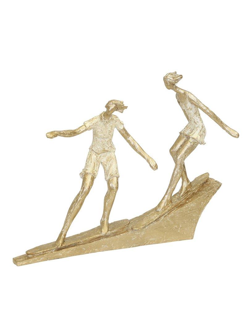 Surfing Couple Figurine