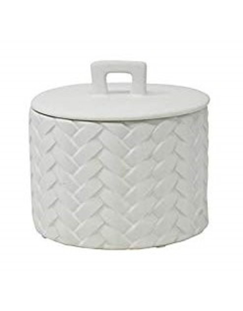 White Weave Canister