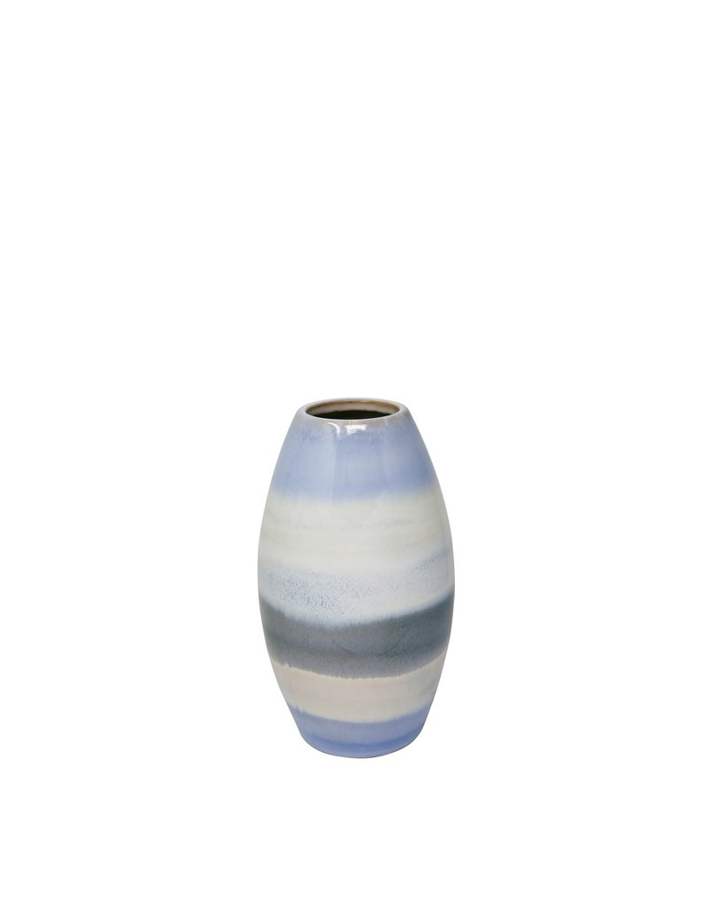 Ceramic Cone Stripe Vase