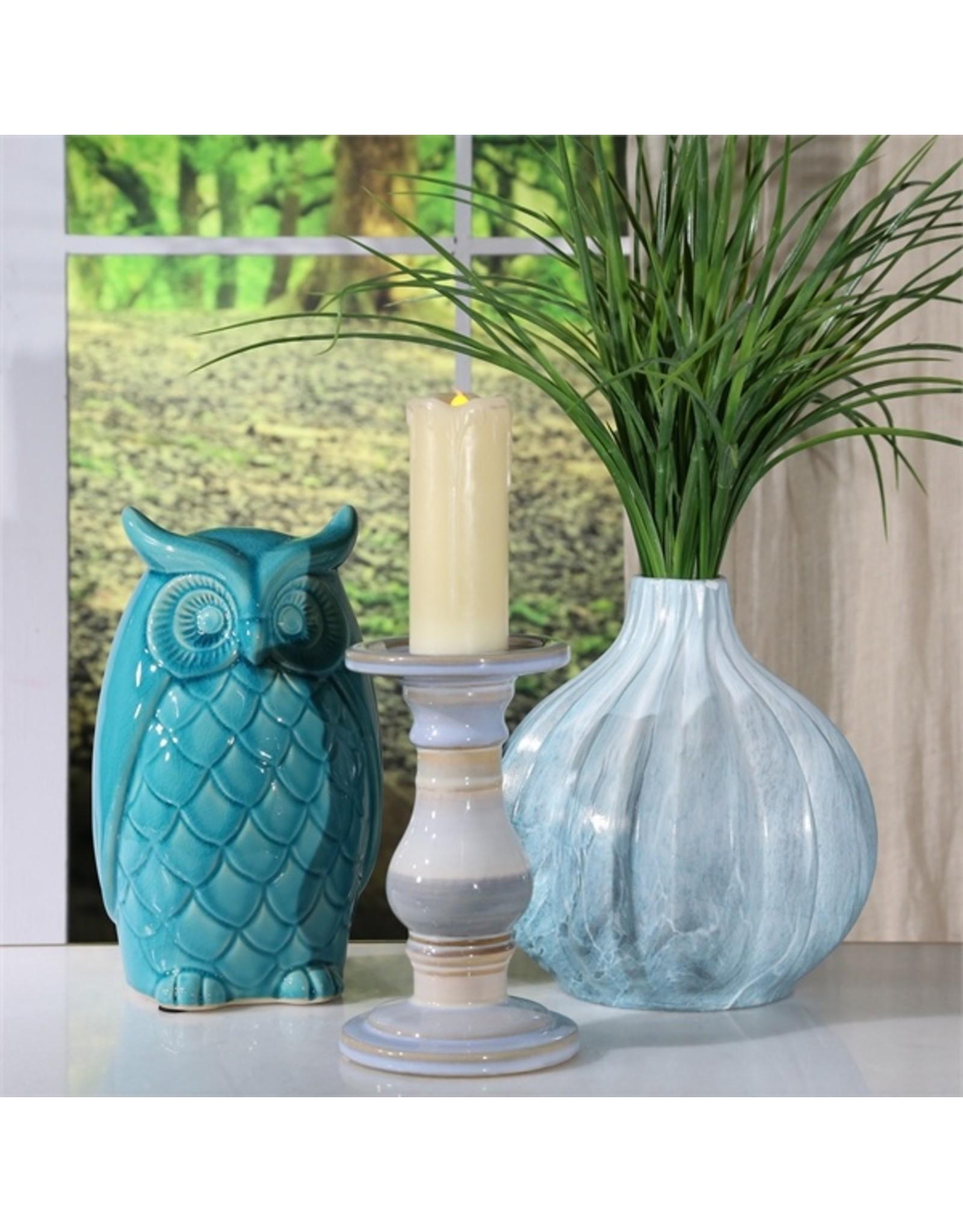 Blue Marbled Vase