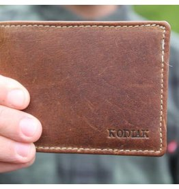Bifold Leather Wallet Antique Brown