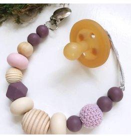 Lavender Blush Paci Clip