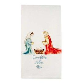 Come Let Us Adore Him Dishtowel
