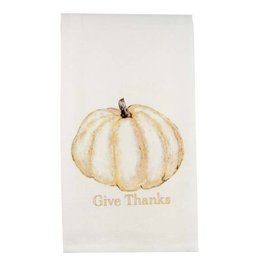 Pumpkin Give Thanks Gold Dishtowel