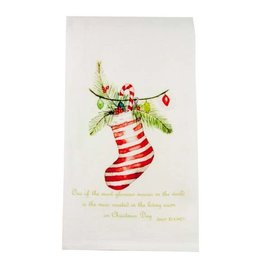 Stocking with Quote Dishtowel