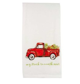 Red Truck with Presents Dishtowel