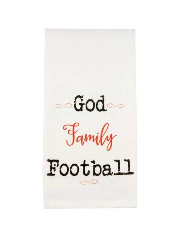 God Family Football Tea Towel