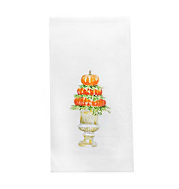 Pumpkin Topiary Dishtowel