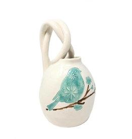 Blue Bird Pottery Tea Pot