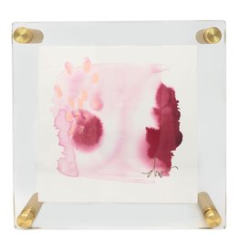 """Blush"" & ""Tangerine"" Beth Winterburn art in acrylic frame 8x8"