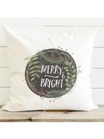Merry & Bright Cotton Canvas Pillow