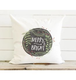 Merry & Bright Cotton Canvas Pillow