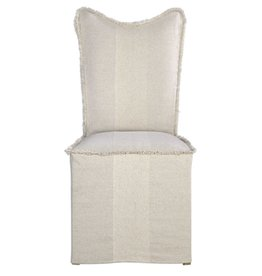 Armless Flax Slipcover Chair