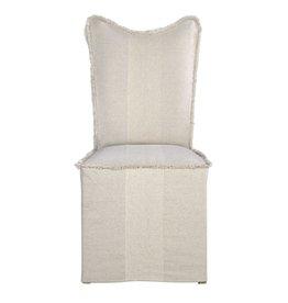 Armless Flax Slipcover Chair
