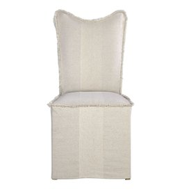 Lenore Armless Slipcover Chair Flax