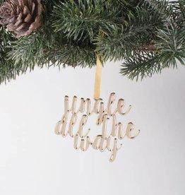 Jingle Gold Ornament