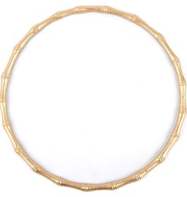 Bamboo Chargettes White/Gold