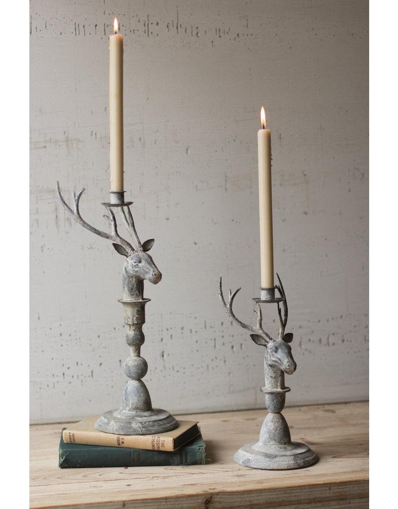 Deer Taper Candle Holders - Set of 2