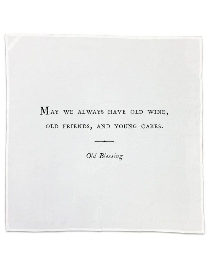 Cotton Napkins Friendship 26x26