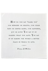 Cotton Napkins Gratitude 26x26