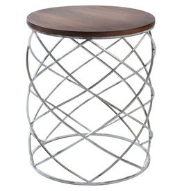 Nickel End Table