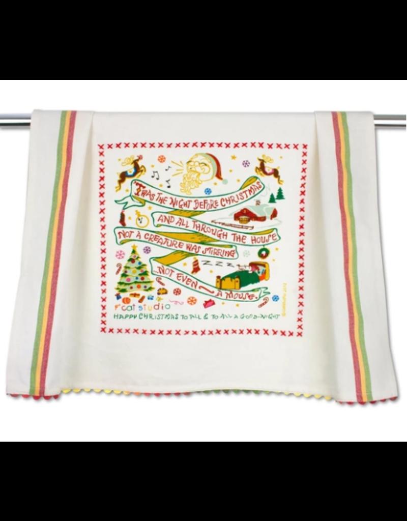 Night Before Christmas Dish Towel