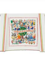 12 Days of Christmas Dish Towel