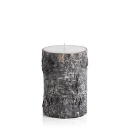 Dark Birchwood Pillar Candle