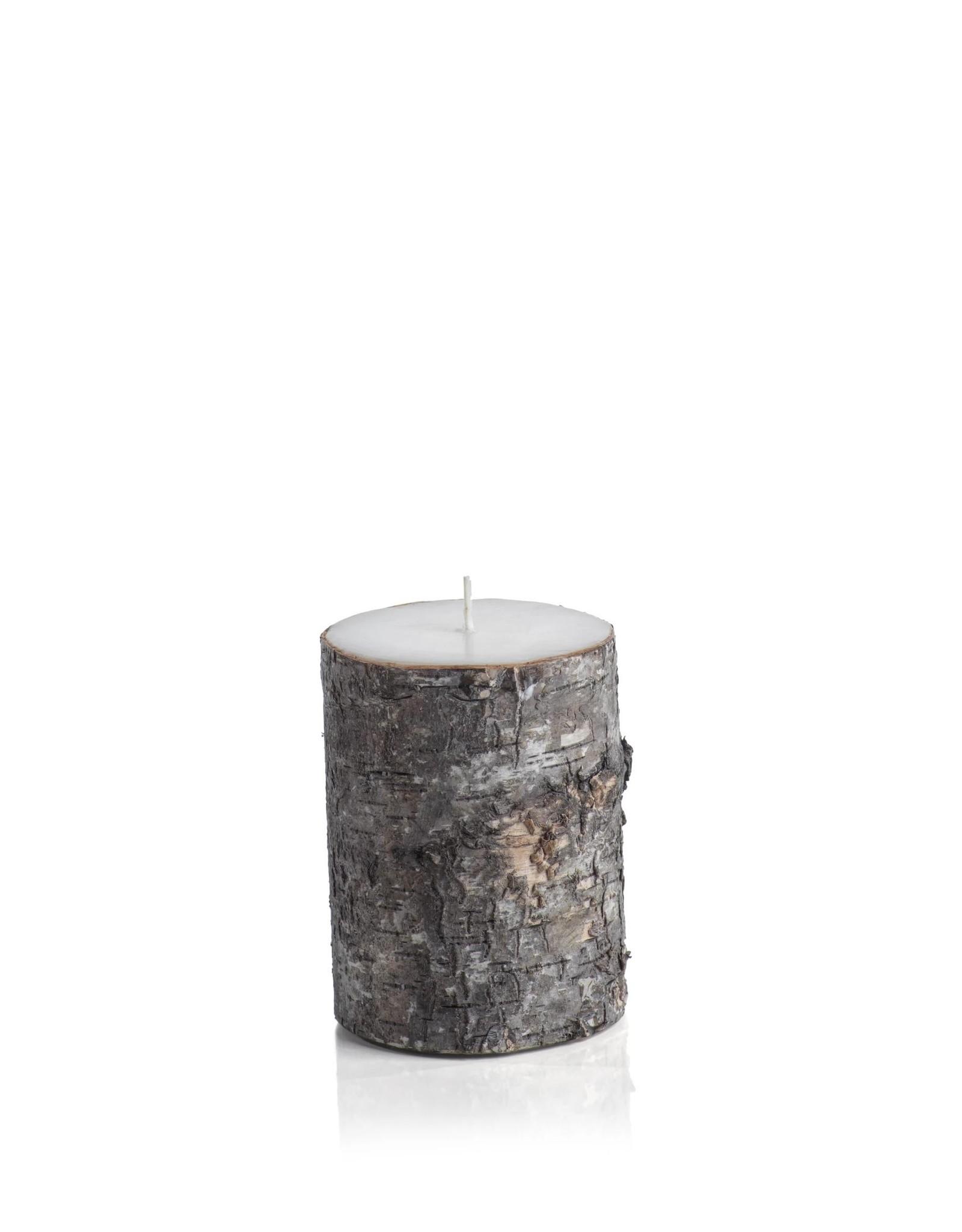 Dark Birchwood Pillar Candle