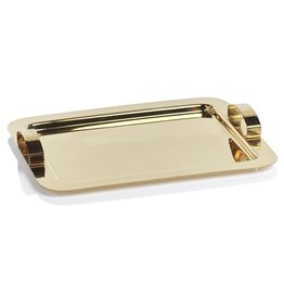 Stainless Steel Gold Serving Tray
