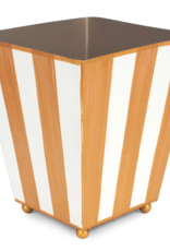 Brushed Stripe Square Cachepot
