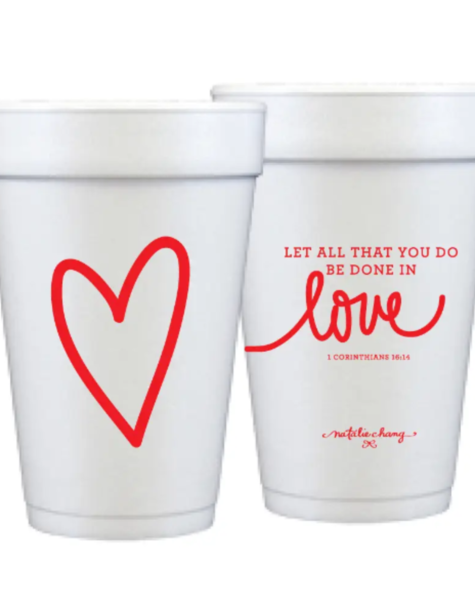 Foam Cup Love Scripture Set/12