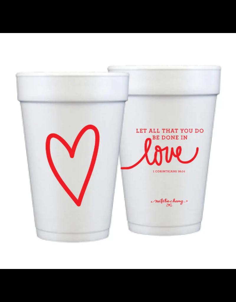 Foam Cup Love Scripture Set/12