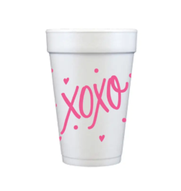 Foam Cup XOXO Set/12